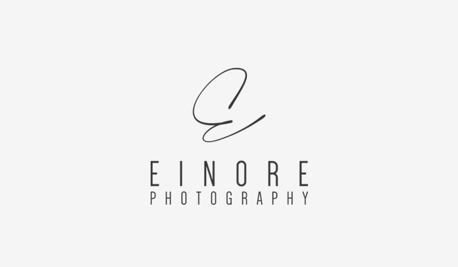 einore photography logo design