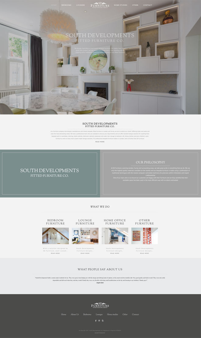 Sd furniture web project eightydesign for Furnishing websites